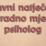 Javni natječaj za psihologa