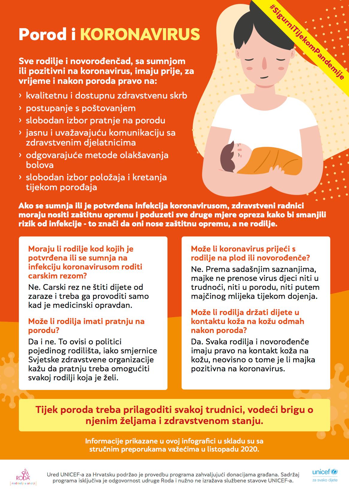 Porod letak Unicef