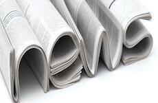 Riječ news složena od novina - najavna slika za stranicu Novosti